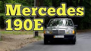 regular car reviews 1986 mercedes benz 190e youtube