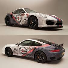 porsche matte white awesome porsche 911 turbo s with beater martini livery was once