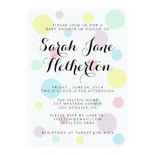 polka dots invitations pastel polka dots baby shower invitations ladyprints