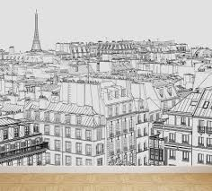 Wall Mural Shining Through The Wall Mural Paris Skyscape Peel And Stick Repositionable