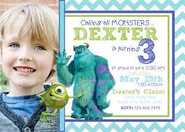 monsters inc birthday invitations afoodaffair me