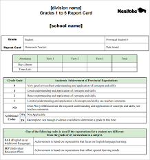 report card excel template 28 images student report card