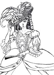victorian woman fashion dress hard coloring pages grown ups