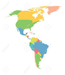 Latin America Map Countries by Colorful Map Of North And South America Royalty Free Cliparts