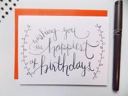 best 25 calligraphy birthday card ideas on pinterest happy