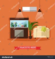 vector illustration place rest house flat stock vector 517514809