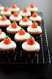 thanksgiving day cupcakes mini pumpkin cupcakes with cream cheese frosting cooking classy
