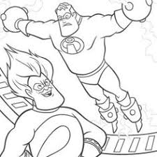 incredibles incredibles frozone coloring pages