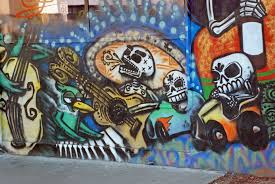 calaveras downtown phoenix inc these are such fun murals about two blocks down the street in the alley between eye lounge 419 e roosevelt street and modified arts 407 east roosevelt