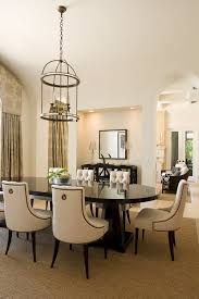 beautiful tufted dining chairs in classic dining room decoration