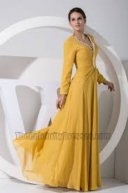 gorgeous yellow long sleeve prom dress formal evening dresses
