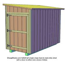 How To Build A Lean To Shed Plans by How To Build A Bike Shed Plans