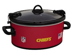 amazon com crock pot kansas city chiefs nfl 6 quart cook u0026 carry