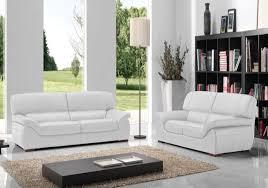canapé cuir blanc design canapé cuir blanc adela canapé salon cuir italy pas cher