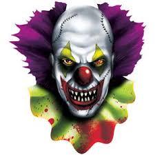 clown halloween cutout 38cm