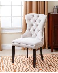 Tufted Dining Room Chairs Sale Amazing Deal Abbyson Versailles Tufted Velvet Dining Chair Ivory