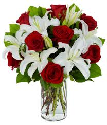 Roses And Lilies Eternal Embrace At From You Flowers