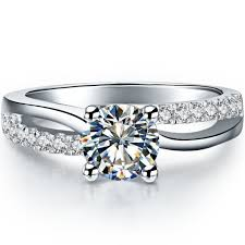 fine wedding rings images 0 5ct exquisite wedding ring 925 sterling silver pretty engagement jpg