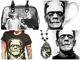 Frankenstein Shower Curtain by Horror Housewares Sourpuss Clothing Blog Sourpuss Clothing
