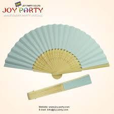 cheap hand fans for wedding find more party favors information about 10 pcs lot 21 cm light blue