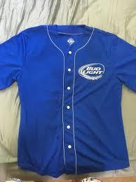 bud light baseball jersey bud light button down baseball shirt lacrosse apparel sidelineswap