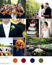 navy coral yellow orange wedding color palette perfect