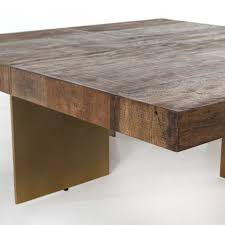 Rustic Square Coffee Table Coffe Table Alec Reclaimed Wood Square Coffee Table With Brass