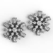diamond stud earings blooming bursts diamond stud earrings karp jewellery