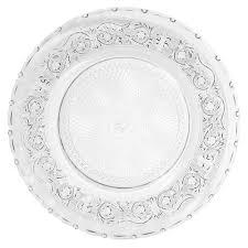 assiette porte verre assiette de présentation en verre d 30 cm classica maisons du monde