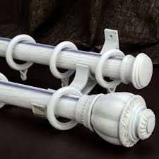 White Wood Curtain Rod Roth Cherish Antique White Metal Single Curtain Rod Lowe 39 S