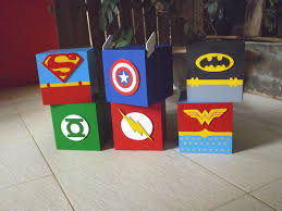 all super hero characters centerpieces done by