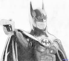 10 how to draw batman michael keaton