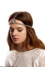 bridal headpiece boho style wedding hair accessory head chain