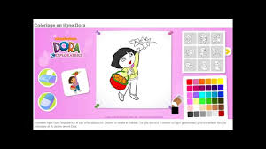 Dora LExploratrice Jeu Coloriage en Ligne HD  YouTube