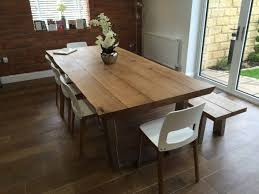 Kitchen And Dining Room Tables Table Solid Oak Dining Table 6 Chairs Oak And White