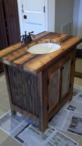 rustic bathroom vanity barn wood pine undermount sink 650 00