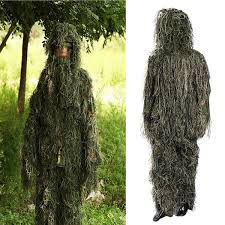 woodland camo camouflage clothing 3d tree adults ghillie