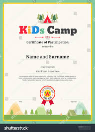 colorful kids certificate template in portrait for children events