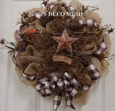 primitive deco mesh wreath be sure to check out my page and like