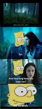 Bart Simpson Meme - if bart simpson was in twilight imgur