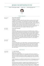Visual Resume Examples Wondrous Merchandiser Resume 3 Visual Cv Sample Resume Example