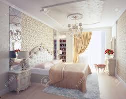 modern luxury bedroom interior 3d rendering stock photo picture