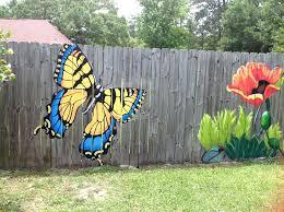 Garden Mural Ideas Garden Wall Murals Ideas Fence Outdoor Garden Wall Murals Ideas