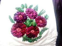 ribbon embroidery flower garden silk satin ribbon embroidery bag clutch cushion welcome to the