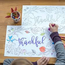 thanksgiving coloring placemats lia griffith