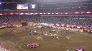 nitro circus monster truck backflip first monster truck backflip on first images tractor service and