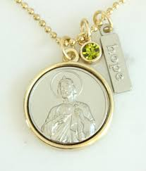 st jude gifts jude necklace gold plated patron st of desperate situations