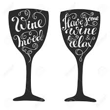 wine silhouette quotes about wine on wine glass silhouette calligraphy style