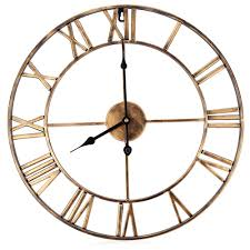 modern 3d clock wall clock mechanism design decorative retro iron
