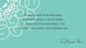 wedding poems i choose you a wedding poem